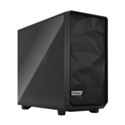 Fractal Design Meshify 2 (Dark TG) Gaming Case w/ Dark Tint Glass Window, E-ATX, Angular Mesh Front, 3 Fans, Fan Hub, Detachable Front Filter, USB-C