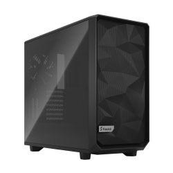 Fractal Design Meshify 2 (Light TG) Gaming Case w/ Light Tint Glass Window, E-ATX, Angular Mesh Front, 3 Fans, Fan Hub, Detachable Front Filter, USB-C