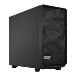 Fractal Design Meshify 2 (Black Solid) Gaming Case, E-ATX, Angular Mesh Front, 3 Fans, Fan Hub, Detachable Front Filter, USB-C