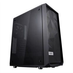 Fractal Design Meshify C (Dark TG) Gaming Case w/ Dark Tint Glass Window, ATX, Angular Mesh Front, High-airflow, 2 x 12cm Fans