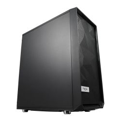 Fractal Design Meshify C (Black Solid) Gaming Case, ATX, Angular Mesh Front, High-airflow, 2 x 12cm Fans