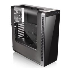 Thermaltake View 27 Gaming Case with Gull-Wing Window, ATX, No PSU, Tinted Front Panel, Tool-less, Black