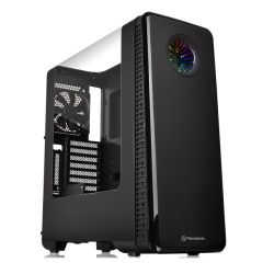 Thermaltake View 28 RGB Riing Gaming Case with Gull-Wing Window, ATX, No PSU, Controllable LEDs, Black