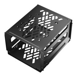 Fractal Design Hard Drive Cage Kit - Type-B, Black, Mounts to available HDD cage120mm fan slots  - For Define 7Meshify 2 + other select Fractal cases