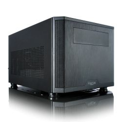 Fractal Design Core 500 (Black) Compact Cube Case, Mini ITX, ATX PSU & 310mm GPU Support, 280mm Watercooling, Magnetic Filters