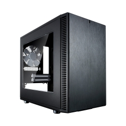 Fractal Design Define Nano S (Black Window) Quiet PC Case w/ Clear Window, Mini ITX, 2 Fans, ATX  PSU & 315mm GPU Support, 280mm Watercooling, Up to 4 HDD/SSD