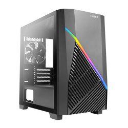 Antec Draco 10 Mini ARGB Gaming Case w/ Edge-to-Edge Glass Window, Micro ATX, Front ARGB Lighting, LED Control Button, 1 Fan, 360mm GPU Support