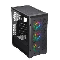 Corsair iCUE 220T RGB Airflow Gaming Case with Tempered Glass Window, ATX, 3 x SP120 RGB PRO Fans