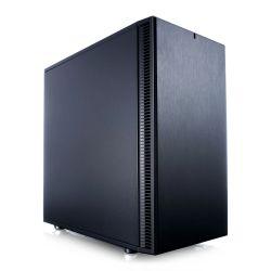 Fractal Design Define Mini C (Black Solid) Quiet Compact Gaming Case, Micro ATX, 2 Fans, ModuVent Technology, PSU Shroud, Optional Top Filter