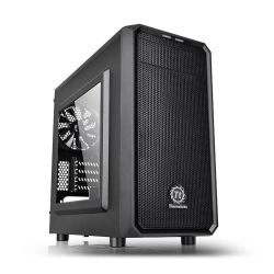 Thermaltake Versa H15 Gaming Case with Window, Micro ATX, No PSU, Mesh Front, Tool-less, Black