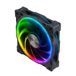 Akasa SOHO AR 12cm ARGB PWM Case Fan, 500-2000 RPM, Anti-Vibration, Fluid-Dynamic Bearing, Silent Operation