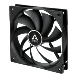 Arctic F12 12cm PWM Case Fan, Black, 9 Blades, Fluid Dynamic, up to 13.5K RPM, 6 Year Warranty