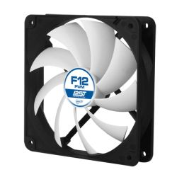 Arctic F12 12cm PWM PST Case Fan, Black & White, 9 Blades, Fluid Dynamic, 10 Year Warranty