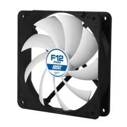 Arctic F12 12cm PWM PST Case Fan, Black & White, 9 Blades, Fluid Dynamic, 10 Year Warranty