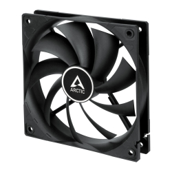 Arctic F12 Silent 12cm Case Fan, Black, 9 Blades, Fluid Dynamic, 6 Year Warranty