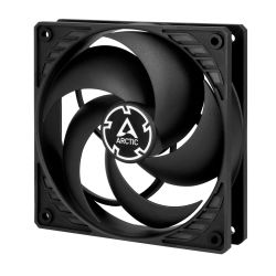 Arctic P12 12cm Pressure Optimised PWM PST Case Fan, Black, Fluid Dynamic, 10 Year Warranty