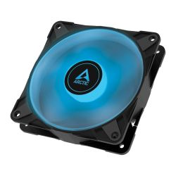 Arctic P12 12cm Pressure Optimised PWM PST RGB 0dB Case Fan, Black, Fluid Dynamic, 12 RGB LEDs, 0-2000 RPM, 6 Year Warranty