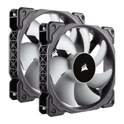 Corsair ML120 Premium 12cm PWM Case Fans x2, 12cm, Magnetic Levitation Bearing, Low Noise, 5 Year Warranty, Twin Pack