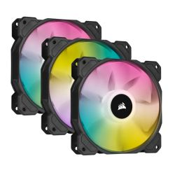 Corsair iCUE SP120 ELITE Performance 12cm PWM RGB Case Fans x3, 8 ARGB LEDs, Hydraulic Bearing, Lighting Node CORE Included