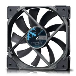 Fractal Design Venturi HF-12 12cm Case Fan, Fluid-Dynamic Bearing, Counter-balanced Magnet, 1400 RPM, Black