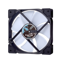 Fractal Design Venturi HP-12 PWM 12cm Case Fan, Fluid-Dynamic Bearing, Counter-balanced Magnet, 400-1800 RPM, Black/White