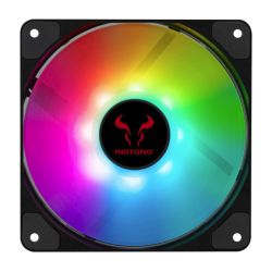 Riotoro Quiet Storm 12cm RGB PWM Case Fan, 10 Addressable RGB LEDs, Hydraulic Bearing
