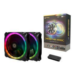 Antec Prizm 140 ARGB PWM RGB Kit, 2 x 14cm Case Fans + Controller