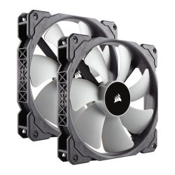Corsair ML140 14cm Premium PWM Case Fans x2, Magnetic Levitation Bearing, Low Noise, 5 Year Warranty, Twin Pack