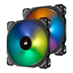 Corsair ML140 Pro 14cm PWM RGB Case Fan, Magnetic Levitation Bearing, Twin Pack