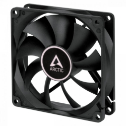 Arctic F9 9.2cm Case Fan, Black, 9 Blades, Fluid Dynamic, 6 Year Warranty