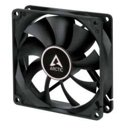 Arctic F9 9.2cm PWM PST Case Fan, Black, 9 Blades, Fluid Dynamic, 6 Year Warranty