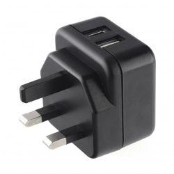 Pama 3-pin Plug USB-C & USB-A Charger, 3 AMP