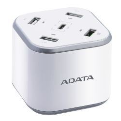 ADATA USB Charging Station - 3 x USB-A, 1 x USB-C, 1 x Qualcomm Quick Charge USB-A