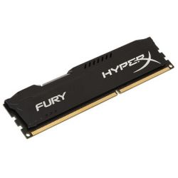 HyperX Fury Black 4GB, DDR3, 1600MHz PC3-12800, CL10, DIMM Memory