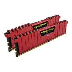 Corsair Vengeance LPX 16GB Kit 2 x 8GB, DDR4, 2400MHz PC4-19200, CL16, XMP 2.0, DIMM Memory, Red