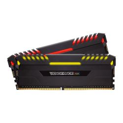 Corsair Vengeance RGB 16GB Kit (2 x 8GB), DDR4, 2666MHz (PC4-21300), CL16, XMP 2.0, DIMM Memory