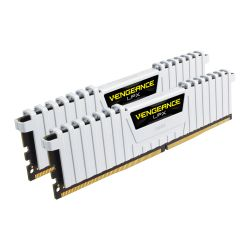 Corsair Vengeance LPX 16GB Kit (2 x 8GB), DDR4, 3000MHz (PC4-24000), CL16, XMP 2.0, DIMM Memory, White