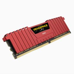 Corsair Vengeance LPX 4GB, DDR4, 2400MHz PC4-19200, CL16, XMP 2.0, DIMM Memory, Red