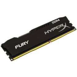 HyperX Fury Black 4GB, DDR4, 2400MHz PC4-19200, CL15, 1.2V, XMP 2.0, DIMM Memory