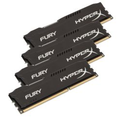 HyperX Fury Black 64GB Kit 4 x 16GB, DDR4, 2400MHz PC4-19200, CL15, 1.2V, DIMM Memory