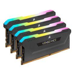 Corsair Vengeance RGB Pro SL 128GB Memory Kit (4 x 32GB), DDR4, 3200MHz (PC4-25600), CL16, XMP 2.0, Black