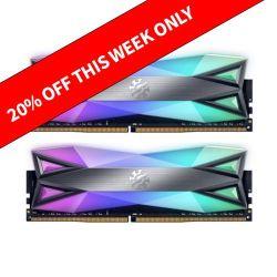ADATA XPG Spectrix D60G RGB LED 16GB (2 x 8GB), DDR4, 3600MHz (PC4-28800) CL17, XMP 2.0, DIMM Memory