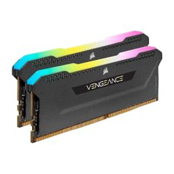 Corsair Vengeance RGB Pro SL 16GB Memory Kit (2 x 8GB), DDR4, 3600MHz (PC4-28800), CL18, XMP 2.0, Black