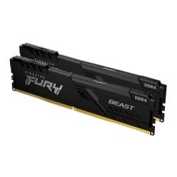 Kingston Fury Beast 32GB Kit (2 x 16GB), DDR4, 2666MHz (PC4-21400), CL16, DIMM Memory
