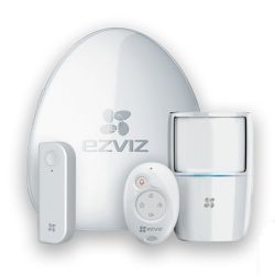 EZVIZ Wireless Alarm Starter Kit - Alarm Hub, PIR Sensor, Open-Close Detector & Remote Control