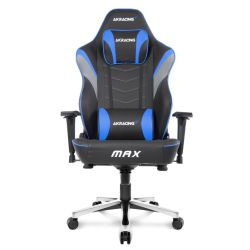 AKRacing Masters Series Max Gaming Chair, Black & Blue, 510 Year Warranty