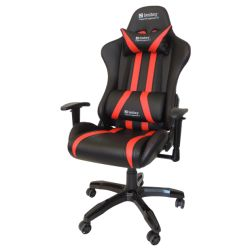 Sandberg Commander Gaming Chair, Tiltable & Height Adjustable, Black & Red, 5 Year Warranty