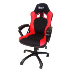 Sandberg Warrior Gaming Chair, Tiltable & Height Adjustable, Black & Red, 5 Year Warranty