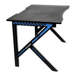 AKRacing Summit Gaming Desk, Black & Blue, Steel Frame, Cable Management, Gaming Mousepad Included