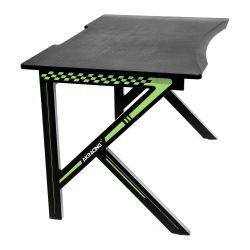 AKRacing Summit Gaming Desk, Black & Green, Steel Frame, Cable Management, Gaming Mousepad Included